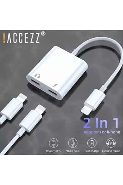 Iphone 12 11 X 8 7 Plus Ipad Lightning Uyumlu Kulaklık Ve Şarj Çevirici Dönüştürücü Çoğaltıcı Kablo