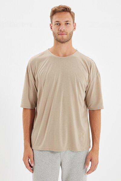 Taş Basic Erkek Bisiklet Yaka Oversize Kısa Kollu T-Shirt TMNSS21TS0811