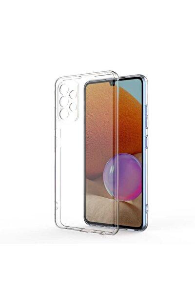 Galaxy A72 Uyumlu Kılıf Kamera Korumalı Yumuşak Şeffaf Ince Süper Silikon