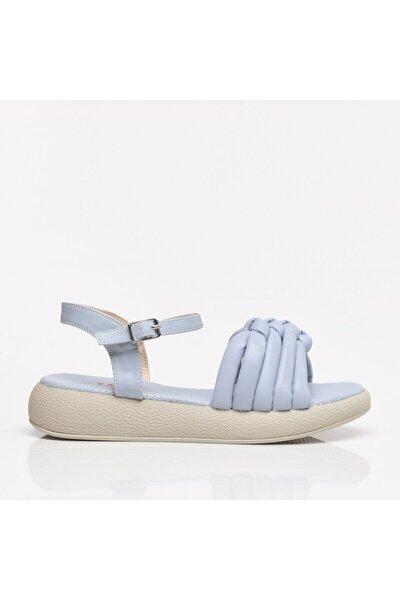 Açık Mavi Kadın Sandalet