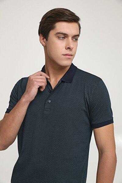 Regular Fit Lacivert Baskılı T-shirt