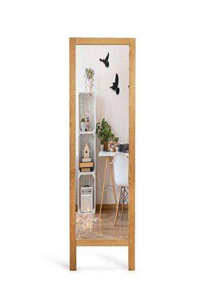 Ayaklı Boy Aynası Masif Ahşap Tamamen Doğal Boyasız