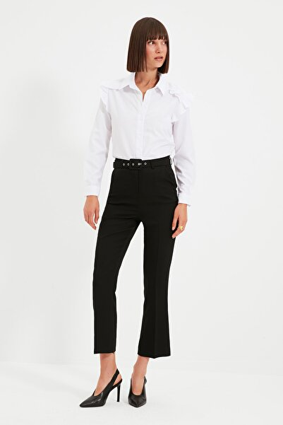 Siyah Kemerli Pantolon TWOAW22PL0029