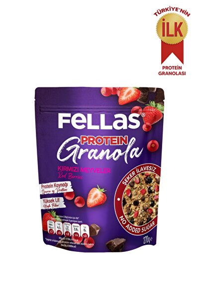 Granola - Kırmızı Meyveler & Protein Bar Parçacıklı 270 Gr