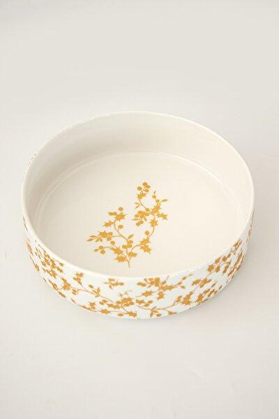 Altın Yıldız Desen Jumbo Salata Tabağı