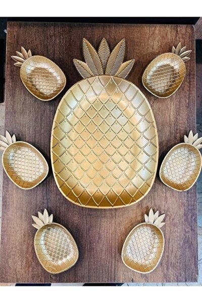 Ananas Tepsi Ve 6'lı Cerezlik Seti