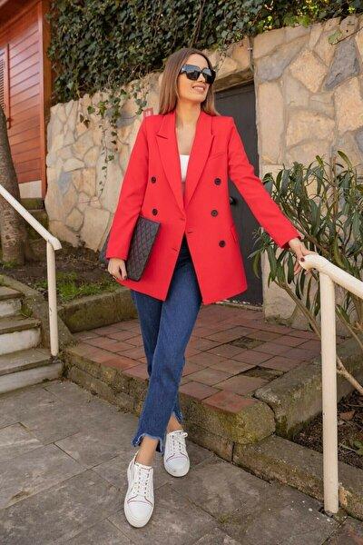 Kırmızı Blazer Ceket