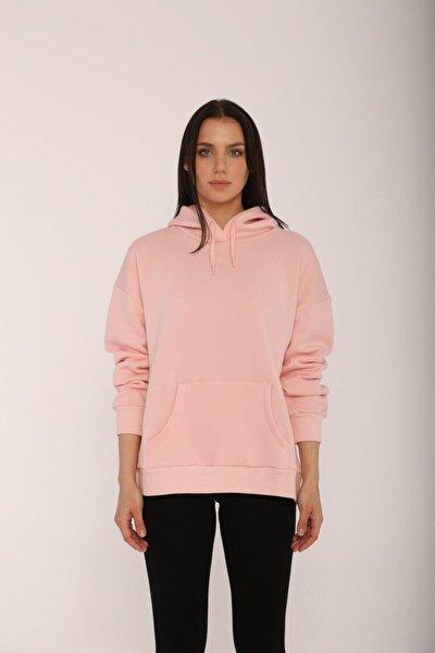 Oversize Pembe Sweatshirt