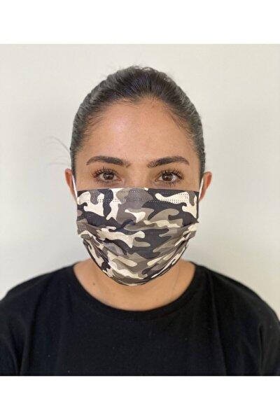 10 Adet Desenli Baskılı Maske 3 Katlı Burun Telli Meltblown Ara Katman