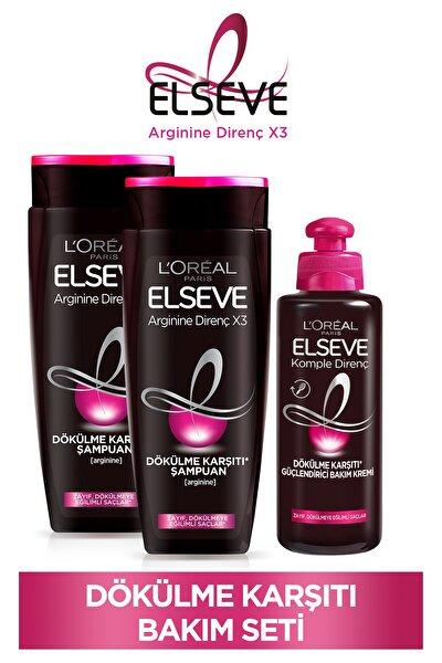 Arginine Direnç X3 Dökülme Karşıtı Şampuan 450ml & Dökülme Karşıtı Güçlendirici Bakım Kremi