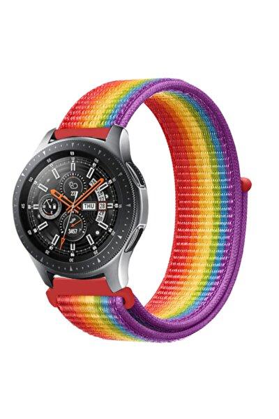 Samsung Galaxy Watch 46mm Saat Kayışı Kaliteli Hasır Örme Kordon Kayış Renkli