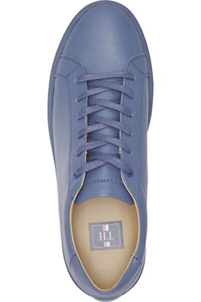Erkek Mavi Cupsole Leather Sneaker