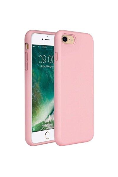 Apple iPhone 7 - 8 - SE 2020 İçi Kadife Lansman Silikon Kılıf Pembe