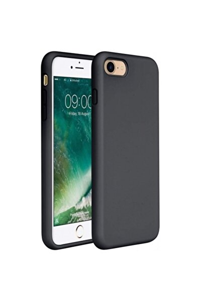 Apple iPhone 7 - 8 - SE 2020 İçi Kadife Lansman Silikon Kılıf Siyah