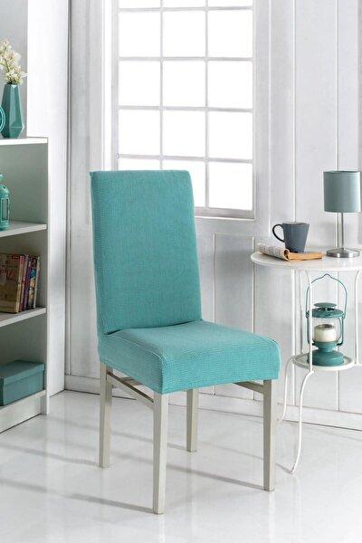 Sandalye Kılıfı Yıkanabilir Likralı Esnek Lastikli Sandalye Örtü