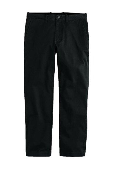 Erkek Siyah Büyük Beden Likralı Mevsimlik Gabardin Pantolon