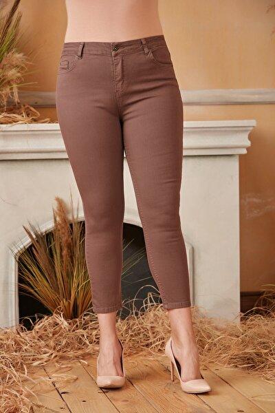 Kadın Vizon Büyük Beden Pamuk Pantolon