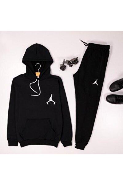 Air Siyah Kapşonlu Sweatshirt Eş Jordan