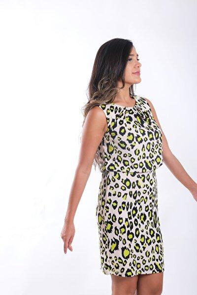 Kadın Leopar Elbise