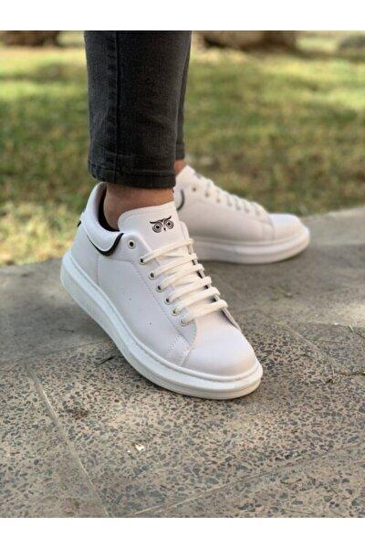 Erkek Beyaz Spor Günlük Sneaker Ayakkabı Wo602