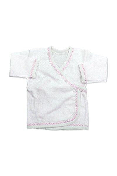 Pembe Kenarlı Sade Bebek 5'li Hastane Çıkışı Seti K2275