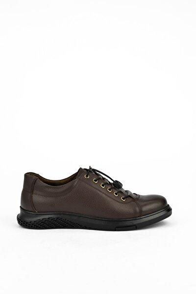 Erkek Kahverengi Hakiki Deri Ayakkabı 103423 7011