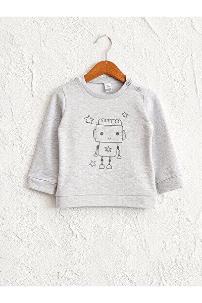 Çocuk Gri Baskılı Sweatshirt