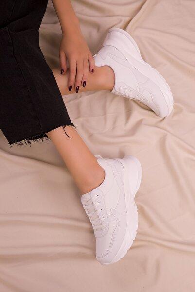Beyaz Kadın Sneaker 15564