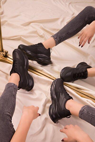 Siyah-Siyah Kadın Sneaker 15564