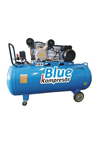 Blue 200 Litre. 3 Hp. 220 Volt. 8 Bar. Pistonlu Kompresör