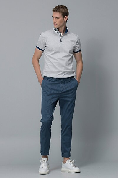 Vicent Smart Chino Pantolon Slim Fit Açık Lacivert