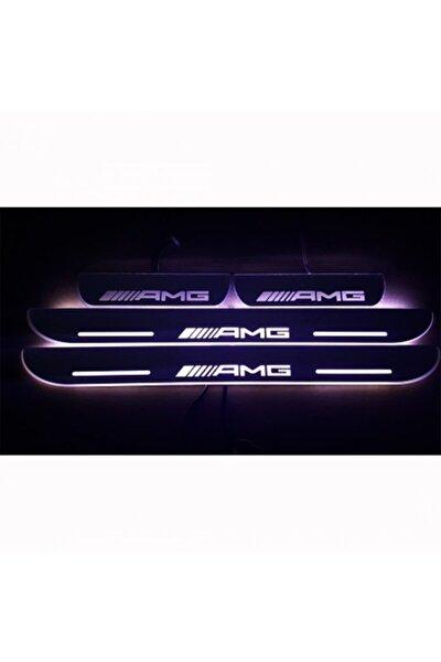 Mercedes Amg Plastik Işıklı Kapı Eşiği 4lü 47x4.5cm