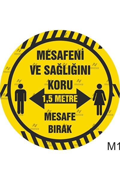 Sosyal Mesafe Yer Sticker