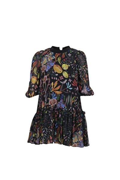 Kız Çocuk Siyah Renkli Elbise Dsl0025 - Abby