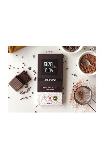 Organik Parçacıklı Ham Çikolata %75 Kakao 85 G