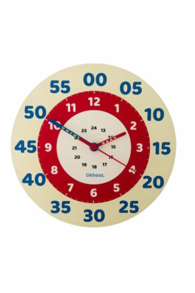 Eğitici Çocuk Duvar Saati 25 Cm Ahşap Model 2