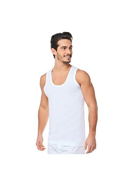 Erkek Beyaz 6'lı Paket Klasik Penye Atlet %100 Pamuk
