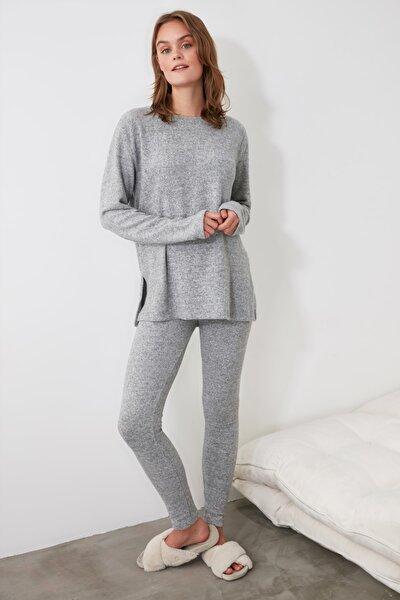 Gri Yumoş Pijama Takımı THMAW21PT0567