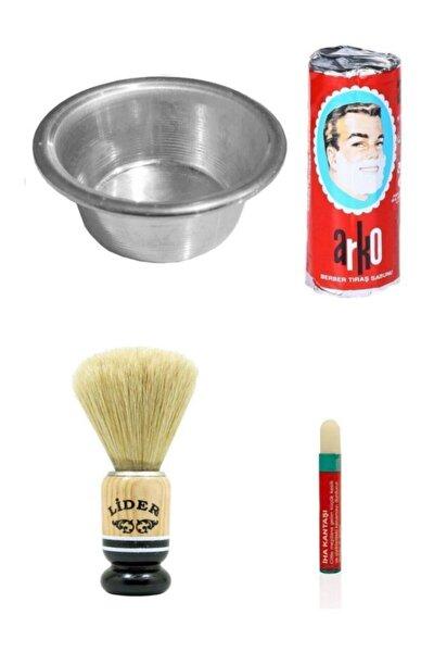 Kalem Kantaşı Hediyeli Tıraş Seti Arko Sabun Köpürtme Tası Traş Fırçası