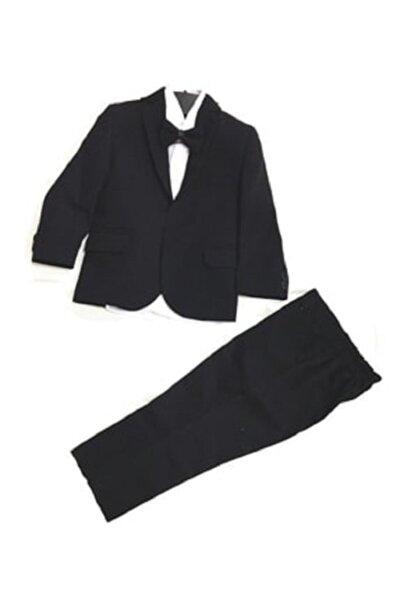 Erkek Çocuk Siyah Takım Elbise Smokin