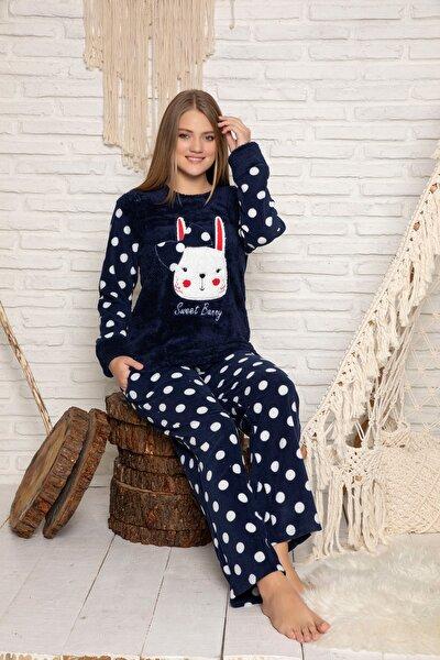 Kadın Lacivert Welsoft Pijama Takim