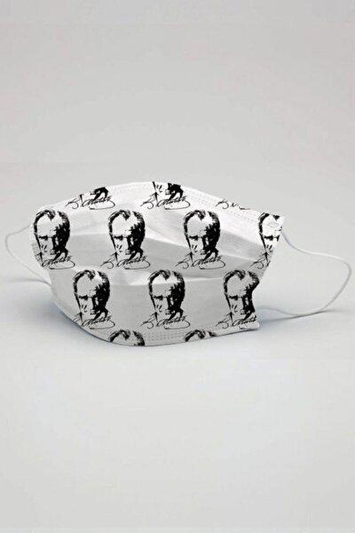 Atatürk Desen Çocuk Maske  5 Adet