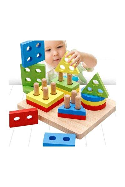 Geometrik Şekiller Bul Tak Eğitici Oyuncak - Çok Pimli Eğitici Oyuncak