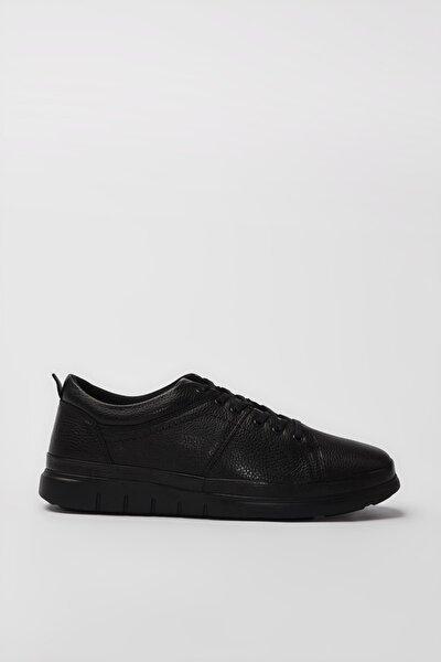 Hakiki Deri Siyah Erkek Sneaker 02AYH194380A100
