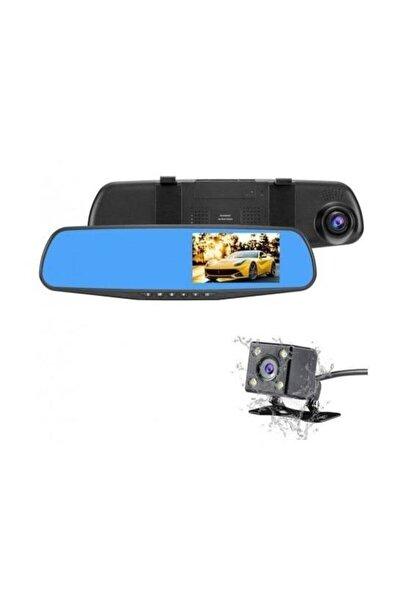 Araç Içi Dikiz Ayna Kamerası 4.3 Inç Çift Kamera Türkçe 1080p