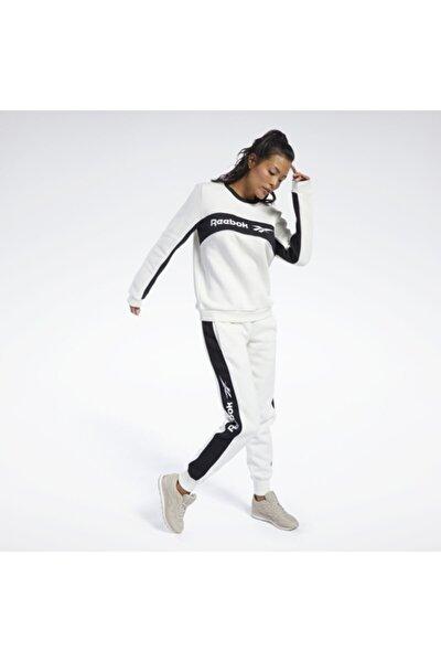 Kadın Lacivert Classics Linear Fleece Crew Sweatshirt