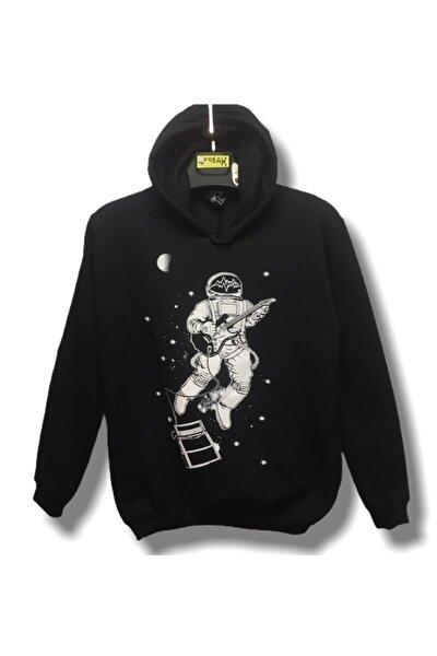 Uzay Gitar Çalan Astronot Hoodie