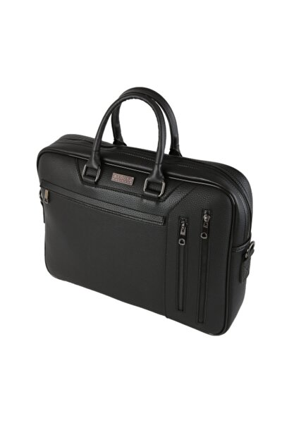 Siyah 15,6 Inch Çok Gözlü Laptop & Evrak Çantası