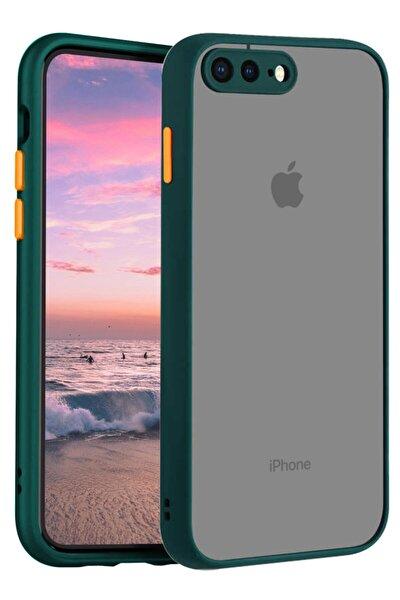 Iphone 7 Plus Kılıf Şeffaf Mat Kamera Köşe Korumalı Pürüzsüz Sert
