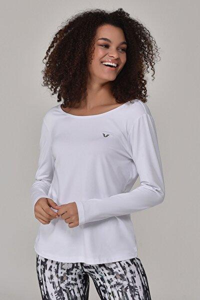 Beyaz Kadın Uzun Kol T-Shirt GS-8108